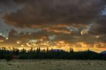 Colorado sky at sunset