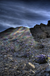sun rays on the mountain image