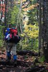 hiking in the fall foliage